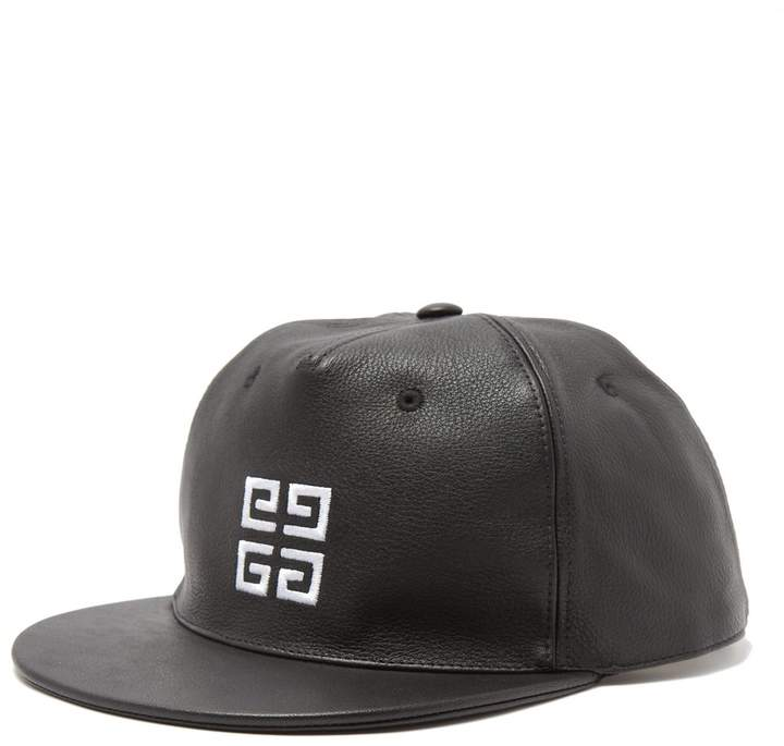Givenchy Logo-embroidered leather cap