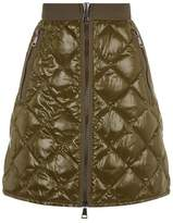 Moncler Quilted Front Zip Mini Skirt