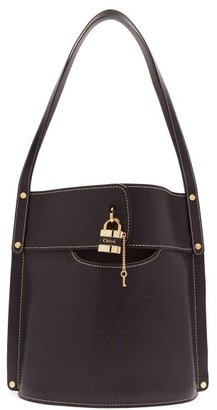 Chloé Aby Large Leather Bucket Bag - Navy