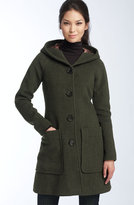 Herringbone Wool Walking Coat