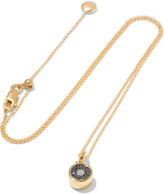 Monica Vinader Evil Eye 18-karat gold vermeil crystal necklace
