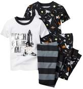 Carter's Baby Clothing Outfit Boys 4-Piece PJ Set Reach for the Stars 9M