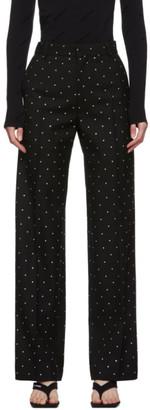 Balenciaga Black Wool Strass Cropped Trousers