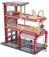 Hape Toys Wooden Fire Station