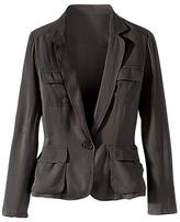 Signature Stretch Silk Collection: Safari Jacket
