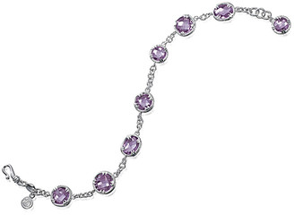 Delatori By Alor Silver 13.50 Ct. Tw. Pink Amethyst Bracelet