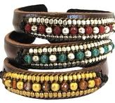 Nakamol Designs - Leather Beaded Bracelet **3 Colors**