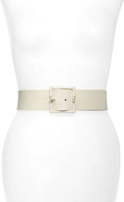 Halogen Wide Leather Belt
