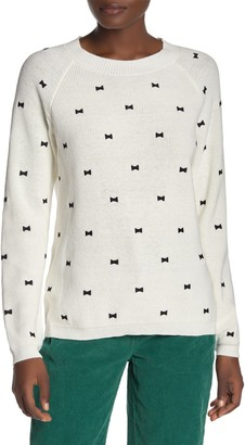 7 Seasons Embroidered Bow Tie Pullover Sweater
