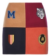 Stella McCartney Embellished Wool-blend Miniskirt
