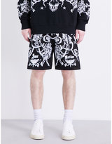 Givenchy Tattoo-print Cotton-twill Shorts