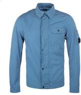 Cp Company Sky Blue Nylon Watchviewer Overshirt