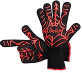 BBQ Grill Cooking Gloves, LDesign Heat Resistant oven mitts for Barbecue, Oven and Potholder-1 Pair