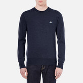 Vivienne Westwood Man Classic Roundneck Knitted Jumper Navy