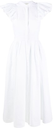 Alexander McQueen Ruffled-Sleeve Shirt Dress