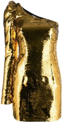 Amen Sequin One Sleeve Mini Dress