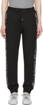 McQ by Alexander McQueen Black Numeral Lounge Pants