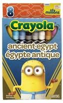 Crayola 8ct Minions Crayons - Ancient Egypt