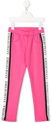 Emilio Pucci Junior Logo Trim Sweatpants
