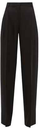 Jacquemus Loya High-rise Pleated Hopsack Trousers - Womens - Black