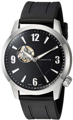 Momentum Men's Stainless Steel Automatic-self-Wind Watch with Rubber Strap