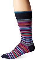 Bugatchi Men's Stripe Time Fancy Sock