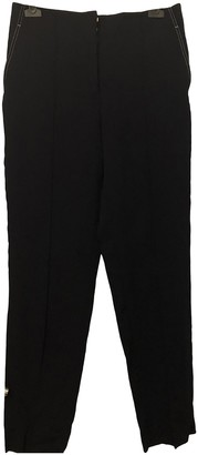 Celine Navy Cotton Trousers for Women
