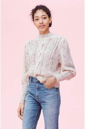 Rebecca Taylor Soft Tweed Cable Pullover