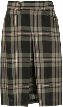 Massimo Alba Regina checked a-line skirt
