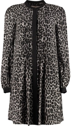 MICHAEL Michael Kors Printed Crepe Shirtdress