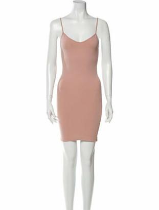 Alaia V-Neck Mini Dress Pink