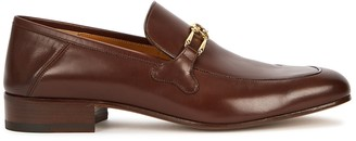 Gucci Phyllis brown leather loafers