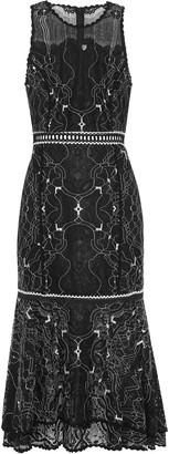 Jonathan Simkhai Tiered Embroidered Lace Dress