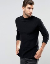 Jack & Jones Premium High Neck Knit In Rib