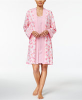 Charter Club Robe And Chemise Travel Set, Created for Macy's