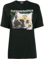 Sueundercover cat print T-shirt