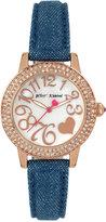 Betsey Johnson Women's Blue Denim Strap Watch 33mm BJ00251-11