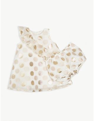 Hucklebones London Polka dot ruffle tulle dress 6-36 months