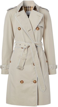 Burberry Piped-Trim Short Trench Coat