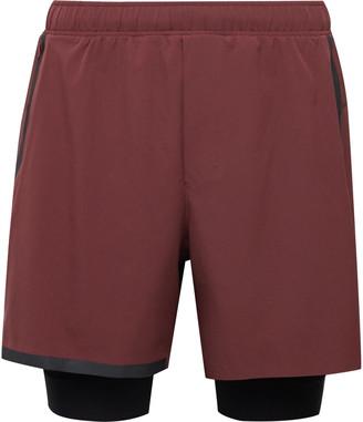 Lululemon Surge Layered Stretch-Shell Running Shorts - Men - Burgundy