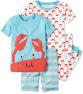 Carter's 4-Pc. Crab Cotton Pajama Set, Baby Boys (0-24 months)