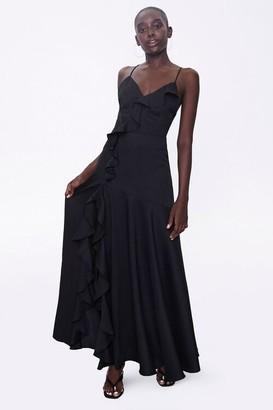 Forever 21 Ruffle-Trim Maxi Dress