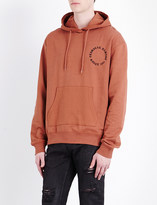 Criminal Damage Logo-print cotton-jersey hoody