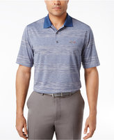 Greg Norman for Tasso Elba Men's Big & Tall Heathered Stripe Performance Sun Protection Golf Polo, Only at Macy's