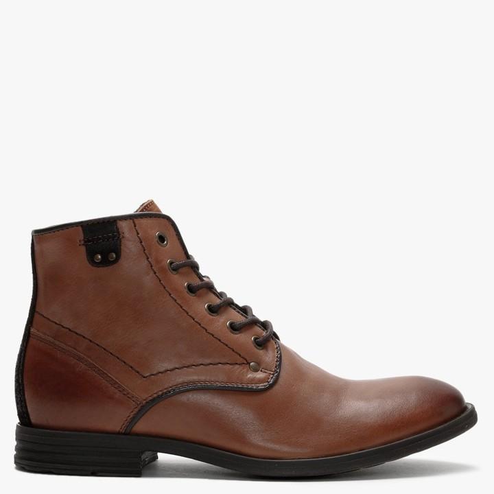 Daniel Prentis Tan Leather Ankle Boots