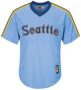 Majestic Men's Seattle Mariners Cooperstown Blank Replica Cb Jersey