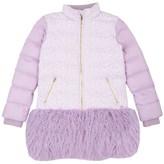 Juicy Couture Girls Jacquard Mix Puffer Coat