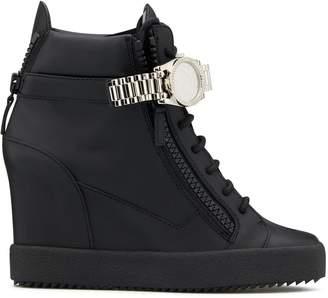 Giuseppe Zanotti watch strap wedge sneakers