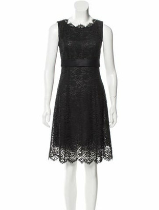 Dolce & Gabbana Lace Knee-Length Dress Black