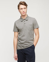 Mercerized Cotton Jersey Polo Shirt